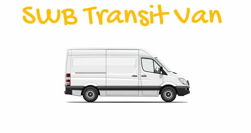 Short Wheel base {SWB) transit van with man London