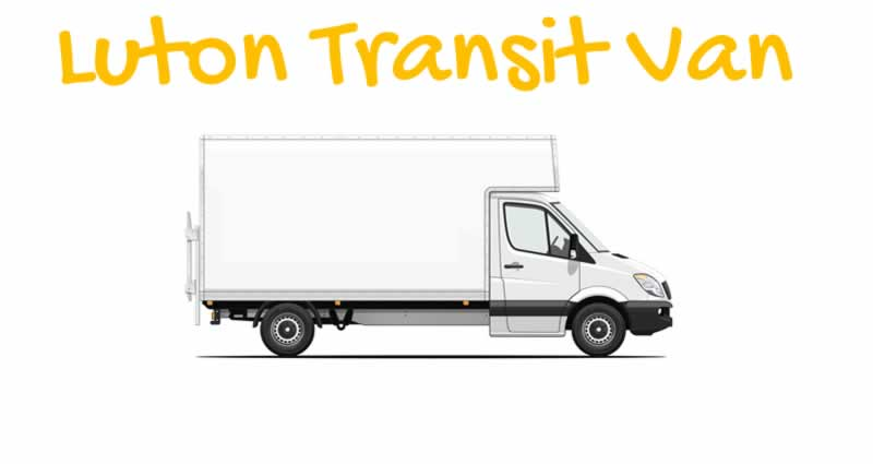 Luton Transit Van with Man London UK